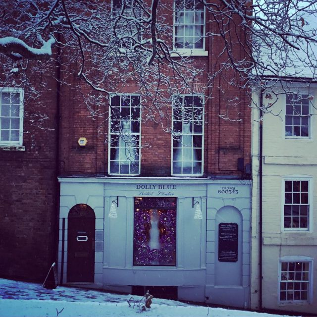 Snow so pretty  bridalboutique Shrewsbury Read More